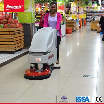 Walk Behind Supermarket Used Floor Scrubbersingle Disc Floor Tiles