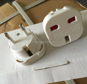 east europe plug adapter 3 pin to 2 pin 220v uk to eu euro france germany travel adaptor plug