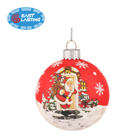 2019 New Christmas Tree Decor Baubles Glass Ornaments Decoration Xmas Party Home Ball