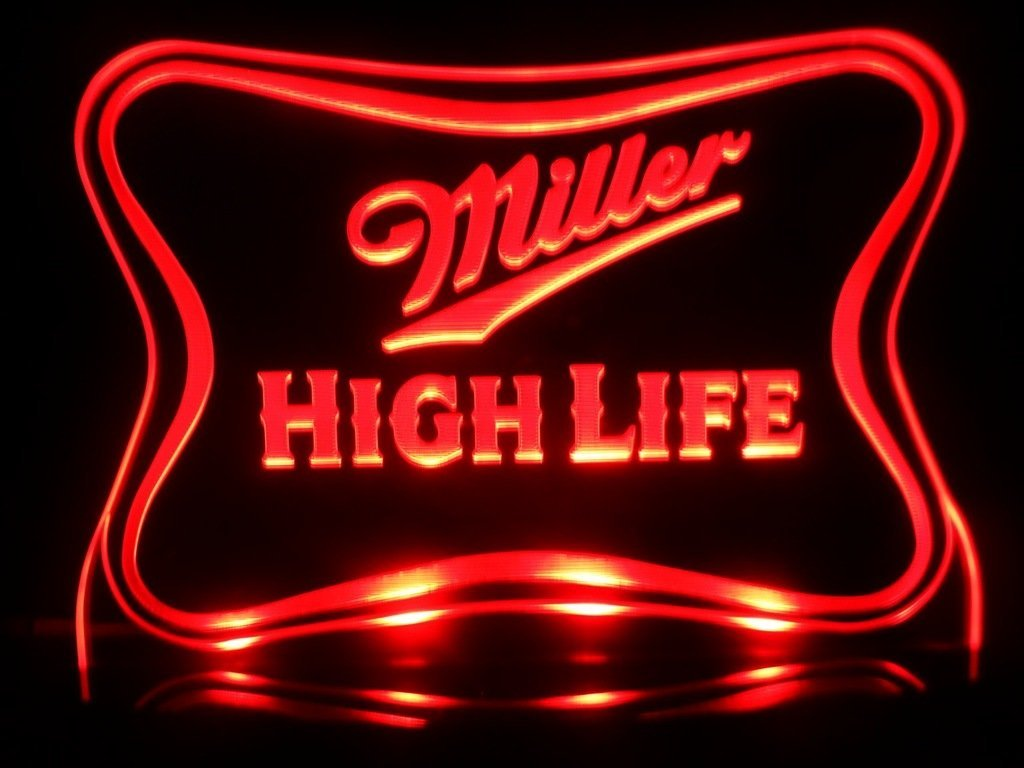Cheap miller light beer signs find miller light beer signs deals on get quotations miller high life led desk lamp night light beer bar bedroom game room signs aloadofball Images