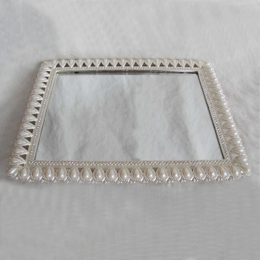 New Style Silver Finishing Mirrored Rectangular Sliver Plated Mirror Serving Tray Us 18 25 Piece Guangdong China Ws Su 2018090101 Wall