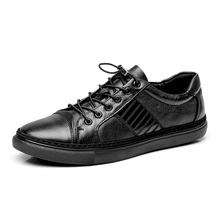 men's black casual leather shoes