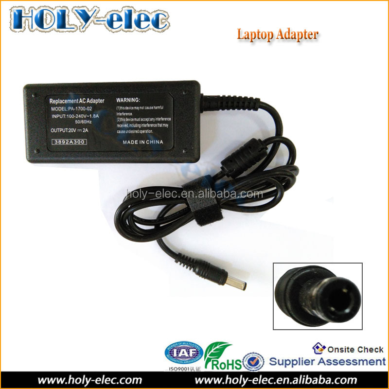 AC 100-240V DC 20V 2A 40W 5.5x2.5mm Laptop Power Adapter Supply Charger For Lenovo IdeaPad S9e S10e