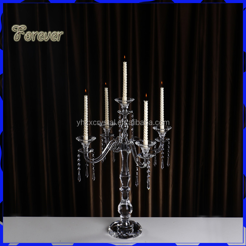 High Quality Tall Crystal Candle Holder Wedding Table Decoration