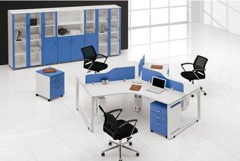 office desk cubicle. Modern Office Desk 3 Person Desktop Low Cubicle