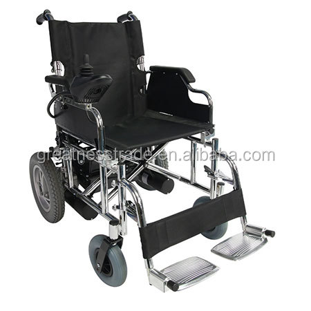 folding medical aluminium frame lightweight electric / power travelling wheelchair model :GT01112A