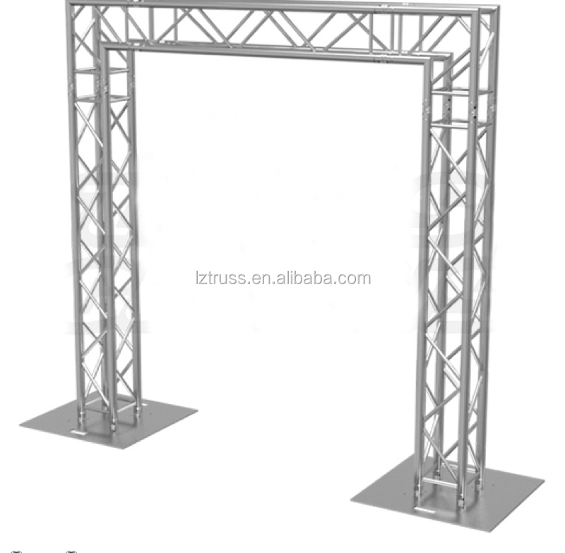 Outdoor led tv light and speaker truss stand gantry truss for Cheap truss systems