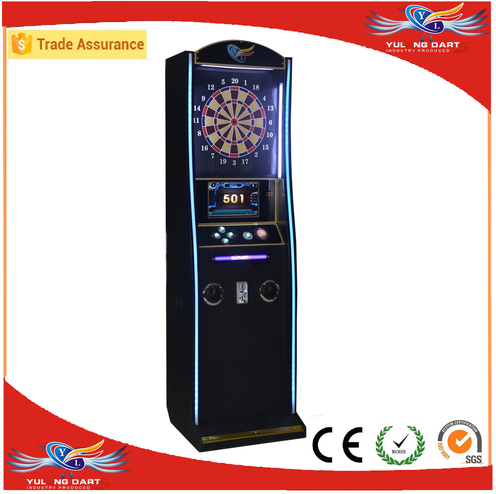 2017 bar soft tip electronic dart game machine with coin acceptor