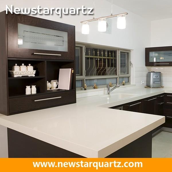 lujo cuarzo blanco bar moderno mostrador de la cocina encimera
