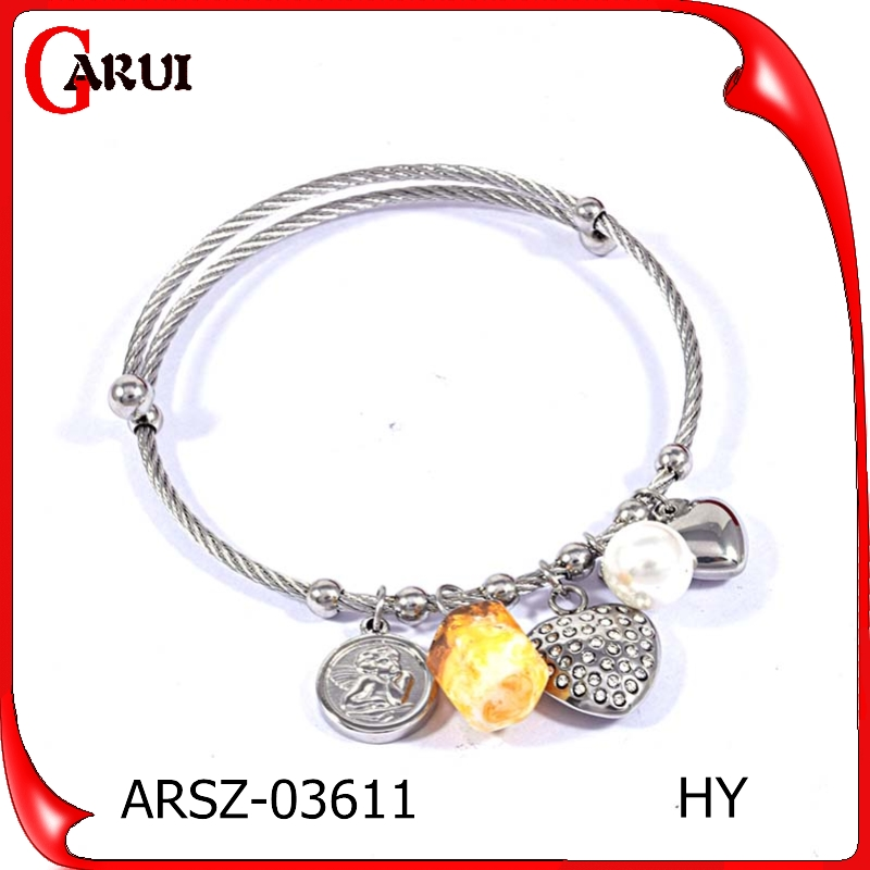 OEM silver color jewelry ball pendant bangles for girlfriend