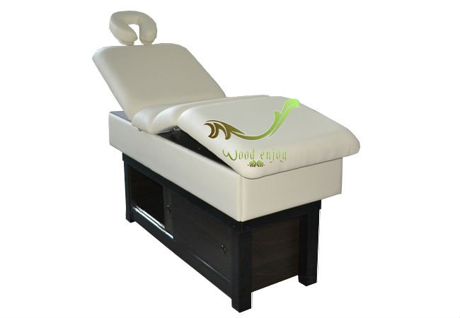 Hot Sales Good Quality A Drawer Solid Wood Adjustable Massage Table/Pedicure Massage Bed
