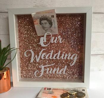 Rose Gold Money Box Wedding Saving Frame - Buy Rose Gold Money Box ...