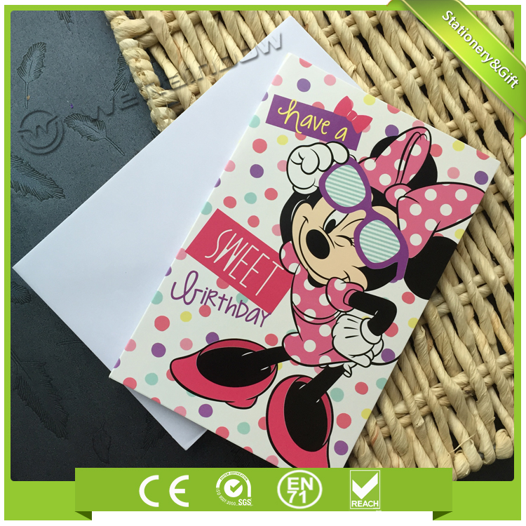 Top Quality Design Exclusive Custom Children's Birthday Card Party Invitation Card