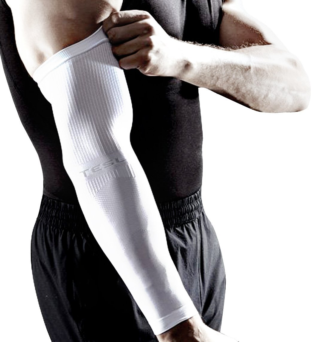 Calf   Arm Compression Sleeve - Tesla Sports Men and Women s   Arm Leg  Compression Sleeves - Good Graduated Compression - Calf   Arm Guard Shin  Splints ... b315b5561