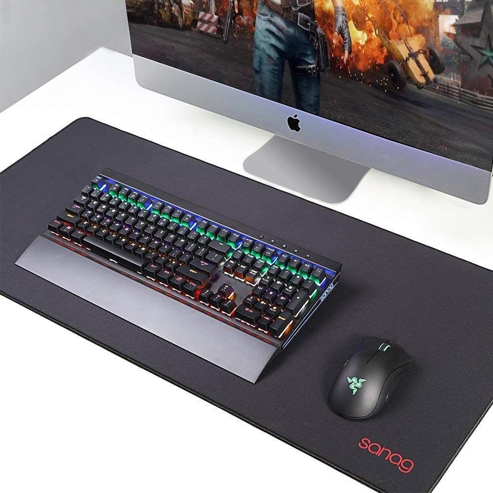 VicTsing Extended Gaming Mouse Pad 31.5×15.75×0.12 inch Thick Large Computer