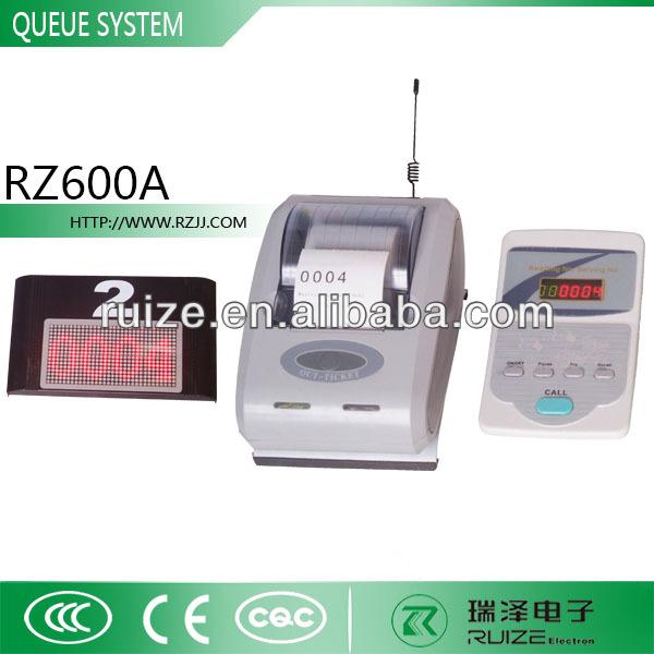 Single Button Ticket Dispenser Wireless Simple Queue System