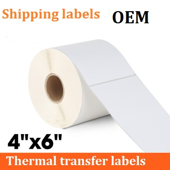 "4"" x 6"" Adhesive Coated Paper Art Paper Label For Shipping Logistics Tracking"