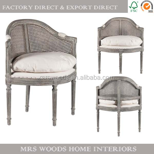 french upholstery chair cane back armchair wooden dining