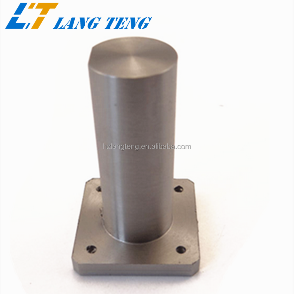 OEM Precise CNC Lathe Machining Steel Shaft with Flange Base