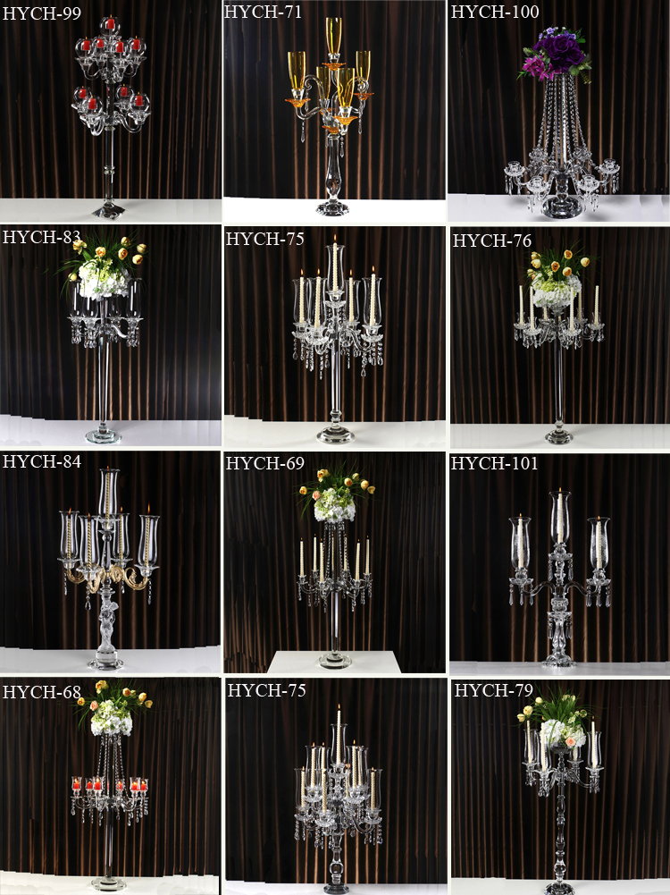 New coming crystal candle holder for home decoration