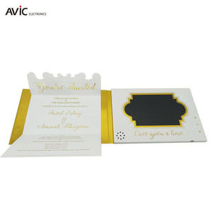 4.3 Inch A5 Lcd Screen Video Brochure Card 3D Led Wedding Invitation Card