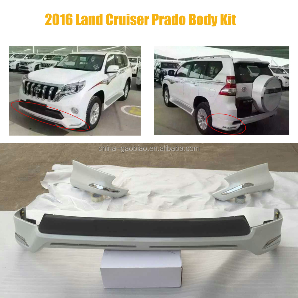body kit for toyota land cruiser prado fj150 2016 bumper lip spoiler