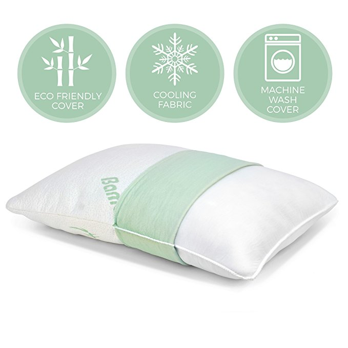 King Size Hypoallergenic Cover Bamboo Cooling Shredded Memory Foam Pillow for Bed