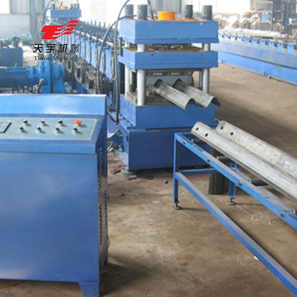 automatic highway guarding rail roll forming machine