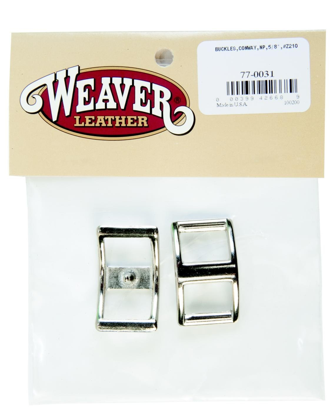 "Weaver Leather BUCKLES,CONWAY,NP,5/8"",#Z210"