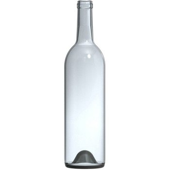 Best Price Wine Bottles 750 ml Clear Bordeaux Wine Bottles, Punted Bottom, Cork