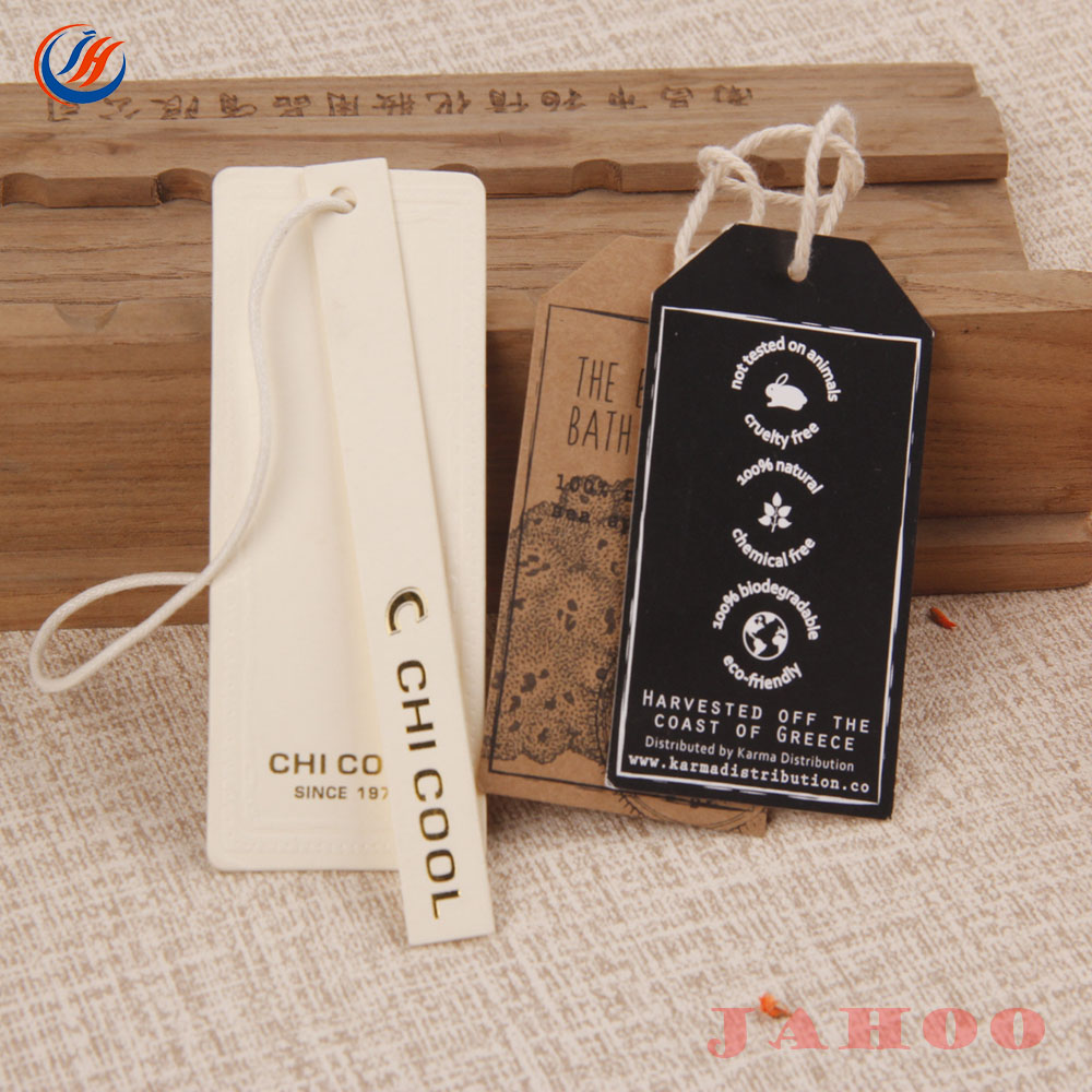 Manufacture Custom High Quality Paper Garment Hang Tags