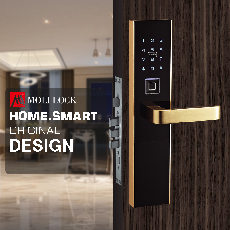 Hotel Lock USB interface Support Fingerprint, password,MF/ID fingerprint password card door lock