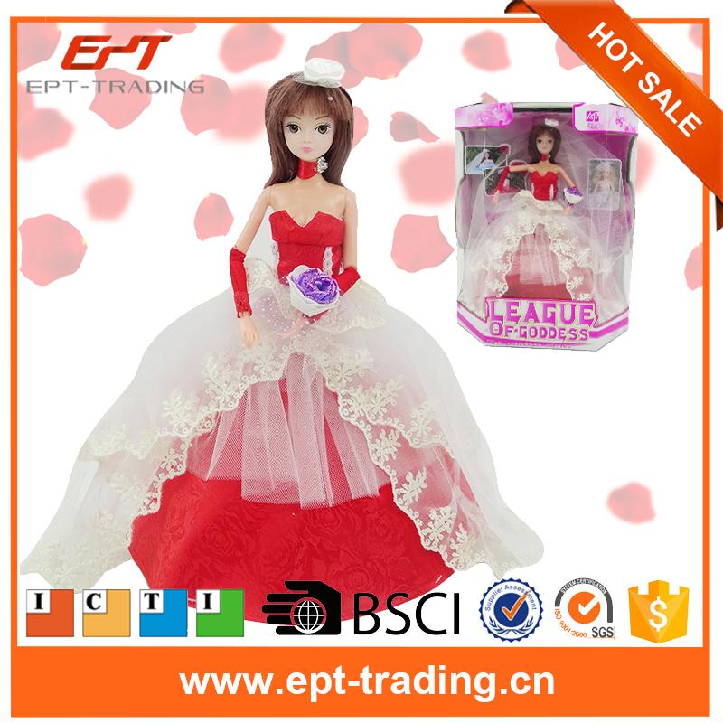 Gift Box Toys Wedding Dress 11 Inch Fashion Doll Dress Up Games