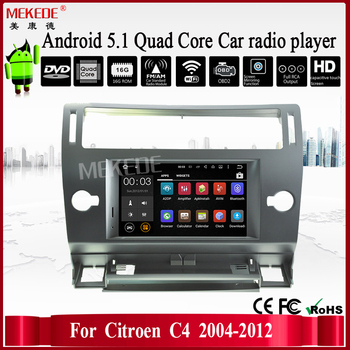 android 5 1 1 car audio dvd player for citroen c4 2004 2012 gps multimedia head device unit bt. Black Bedroom Furniture Sets. Home Design Ideas