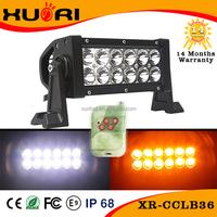 Cheap Price 7'' 36w Dual color LED Emergency Light Bar 6000k led warning lightbar 3w Epistar cars lights LED