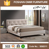 Omir furniture new hot furniture antique fabric rococo bed SS8311