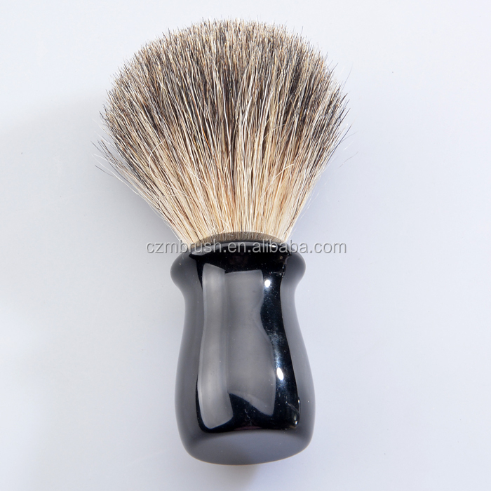Black Handle Silver Tip Badger Wet Shaving Brush mens beard badger shaving brush