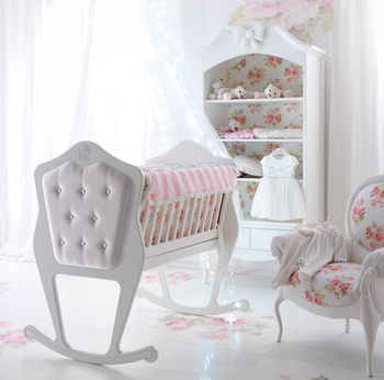 Sweet White New Born Baby Girl Nursery Infant Crib Baby Room For Small Baby  - Buy White Baby Girl Infant Savio Firmino,New Born Solid Wood Crib,Luxury  ...