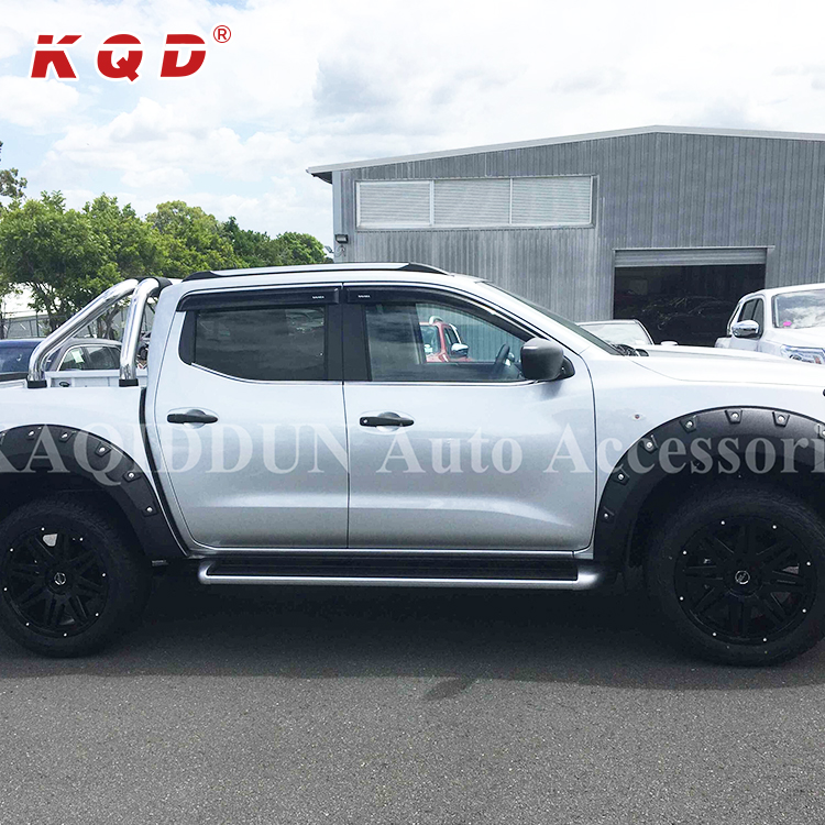 High strength 4x4 parts black universal ABS Plastic wheel arch fender flares for navara np300 2015