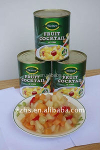 Canned Fruit Cocktail With Fresh Delicious in Light Syrup