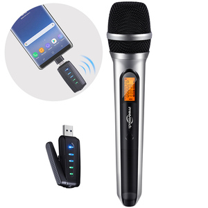 USB Wireless Microphone, Panvotech UHF Unidirectional mic for Smartphone, computer, PA, Podcasting,Vlogging,Youtube, Karaoke