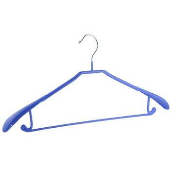 High quality sweet color PVC coated metal wire hanger with wide shoulders
