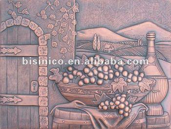 Rame murales uva rame murales mobile pannelli rame martellato