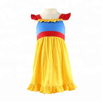 8724aaf01fede Wholesale Summer Children's Clothes Snow White Girl Flutter Sleeves Dress  Ariel Boutique Baby Clothing Girl Princess Dress - Buy Girl Princess ...
