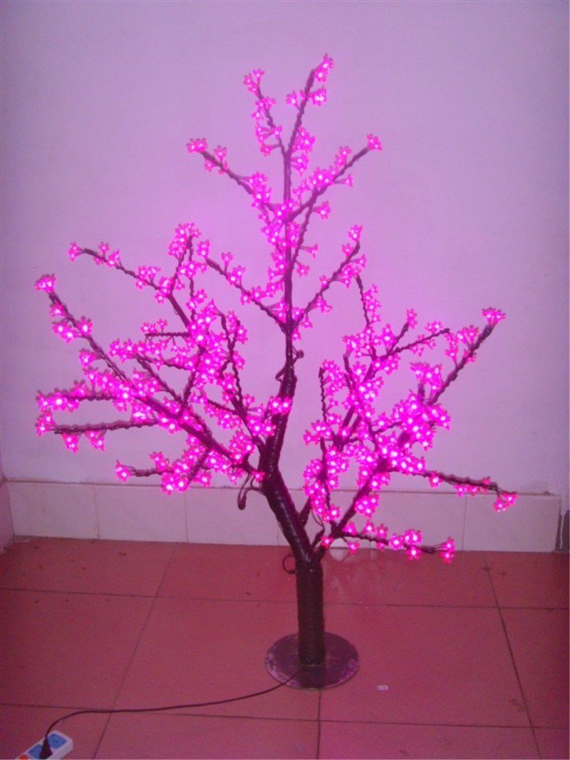 Red Led Lighted Cherry Blossom Tree Branches Light Pine Leaf