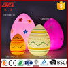 gold supplier new product handpainted large easter egg decorations with led light