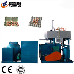 Coffee cup holder machine small popular chicken farm egg tray making machine