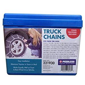 Peerless Truck Tire Chains with Rubber Tighteners #221930, Maximum Traction In Mud Or Snowy Roads