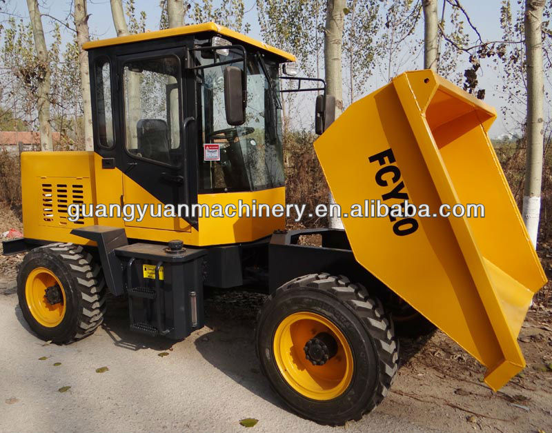 FCY20 2ton 4x4 side tipping dumper