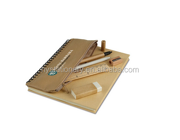 Custom School Briefpapier Gerecycled Notebook, Eco Notebook Sets
